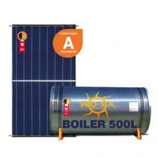 Kit com 3 coletores e boiler de 500L